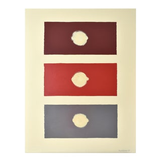 Abstract Red Domino 40x52 For Sale