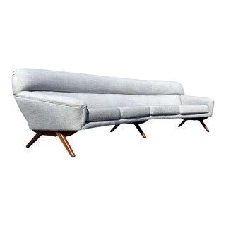 Illum Wikkelso-Mikael Laursen 4-Seat Sofa-Denmark, 1960s For Sale