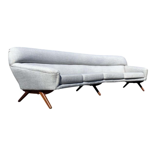Illum Wikkelso-Mikael Laursen 4-Seat Sofa-Denmark, 1960s For Sale