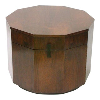 Harvey Probber Rosewood Decagon Lamp Table For Sale