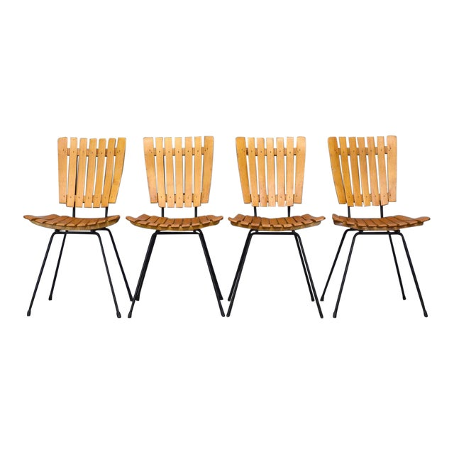 Arthur Umanoff Raymor Mid-Century Slat Chairs, Set/4 For Sale