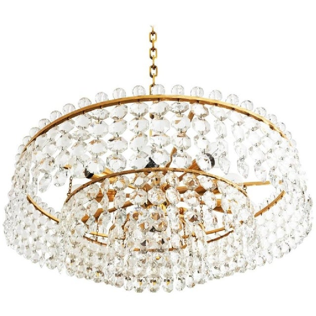 Cut Crystal Chandelier by Bakalowits, 1960s For Sale - Image 6 of 6