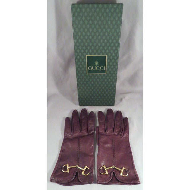 Vintage Gucci Leather and Gold Horse Bit Driving Gloves For Sale - Image 10 of 10