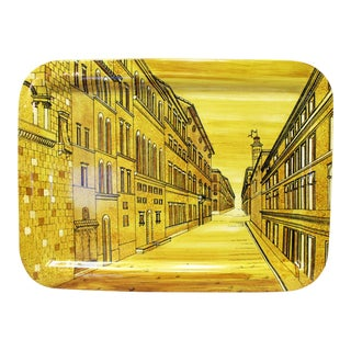 Piero Fornasetti Yellow Metal Tray