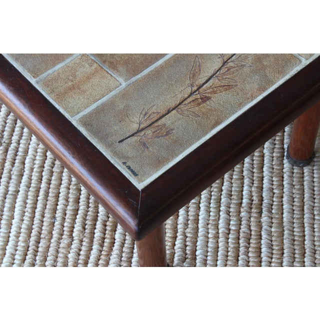 French Cocktail Table With Roger Capron Tiles, 1960s For Sale - Image 4 of 10