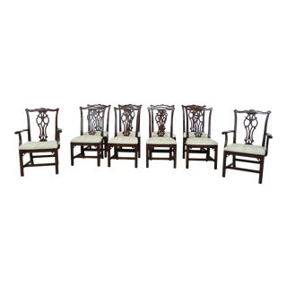 Ethan Allen Georgian Court Cherry Dining Room Chairs - Set of 10 For Sale