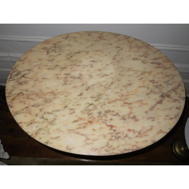 Oval Marble Topped Victorian Table - Image 4 of 5