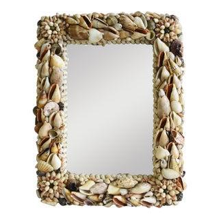 1960s Beach Nautical Seashell Encrusted Mirror For Sale