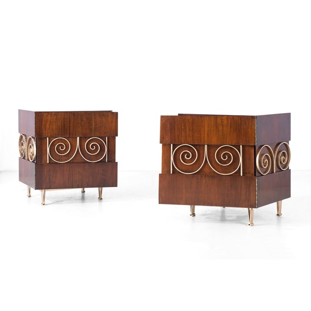 Mid-Century Modern Edmund Spence Pair of End Tables or Nightstands For Sale - Image 3 of 11