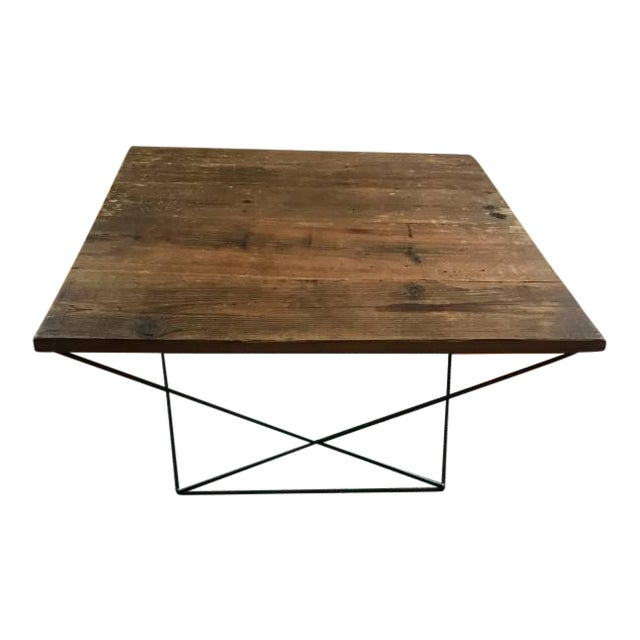 Angled Base Coffee Table For Sale