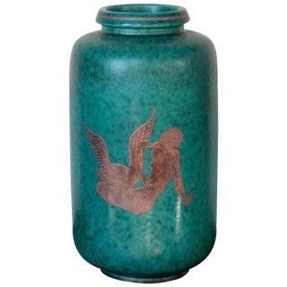 1940s Vintage Gustavsberg William Kåge Argenta Vase For Sale