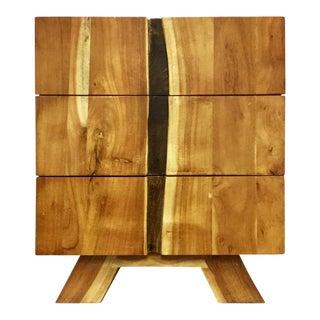 Wooden 3-Drawer Bedside Table