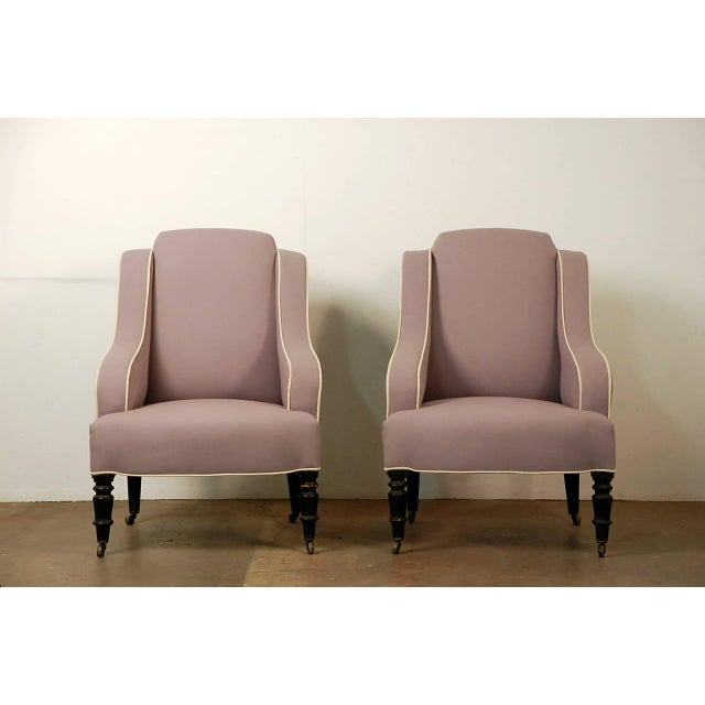 Pair of Chic Small Napoleon III Bergeres For Sale - Image 9 of 9