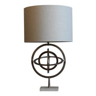 Nickel Unisphere Table Lamp For Sale