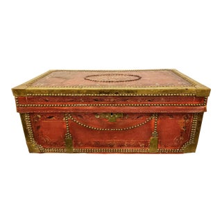 19th Century Hand Painted Chinese Camphor Wood Chest For Sale