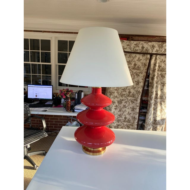 Christopher Spitzmiller Lamp With Shade For Sale - Image 4 of 4
