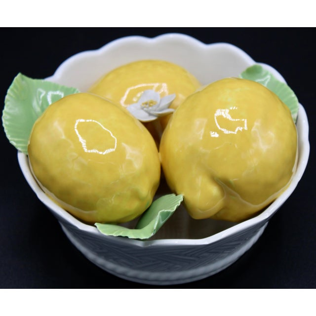 Italian Ceramic Round Lemon Basket For Sale - Image 4 of 11