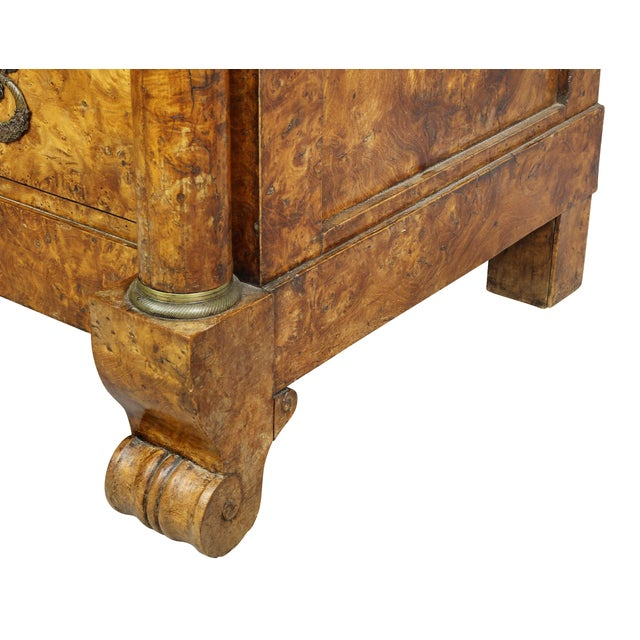 Charles X Burl Elm Commode For Sale - Image 10 of 13