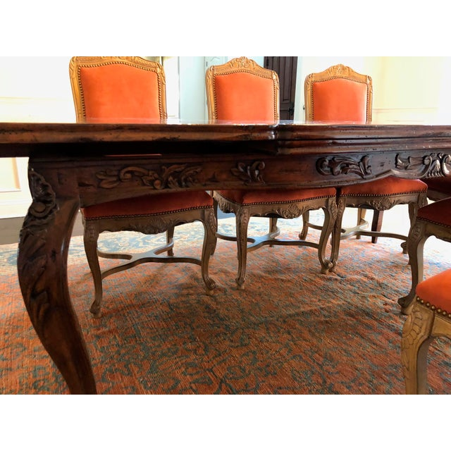 1990s French Provencale Style Parquet Dining Table For Sale - Image 5 of 12