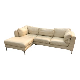 Contemporary Design Within Reach Albert Sectional Sofa in Cream For Sale
