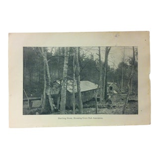 "Vintage Rustic Americana Print, ""Hatching House - Blooming Grove Park Association"", Circa 1930 For Sale"