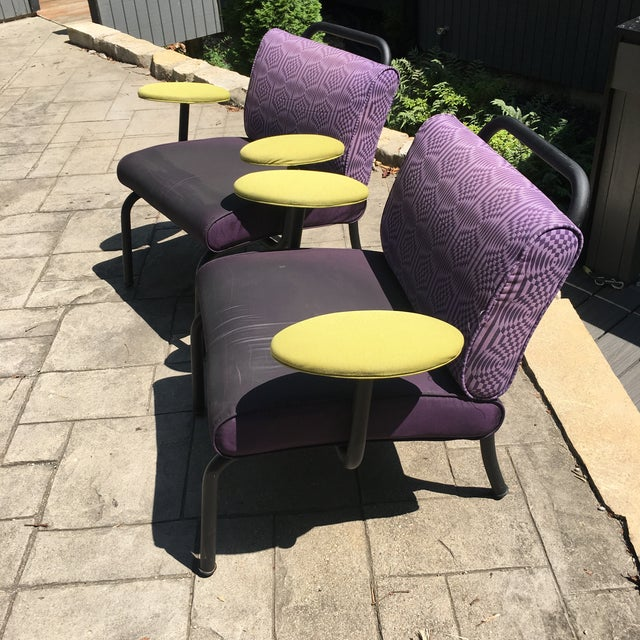 1980s 1990s Memphis Modern Style Club Chairs - a Pair For Sale In Cincinnati - Image 6 of 13