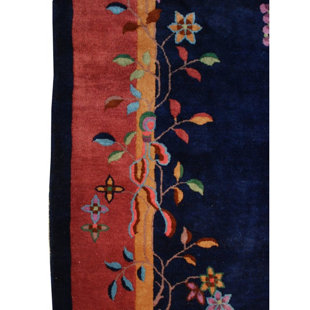 """Art Deco Chinese Art Deco Rug - 73"""" x 105"""" For Sale - Image 3 of 5"""