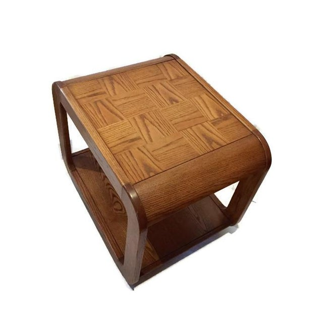 Bent Wood Waterfall Cube Side Tables A Pair Chairish