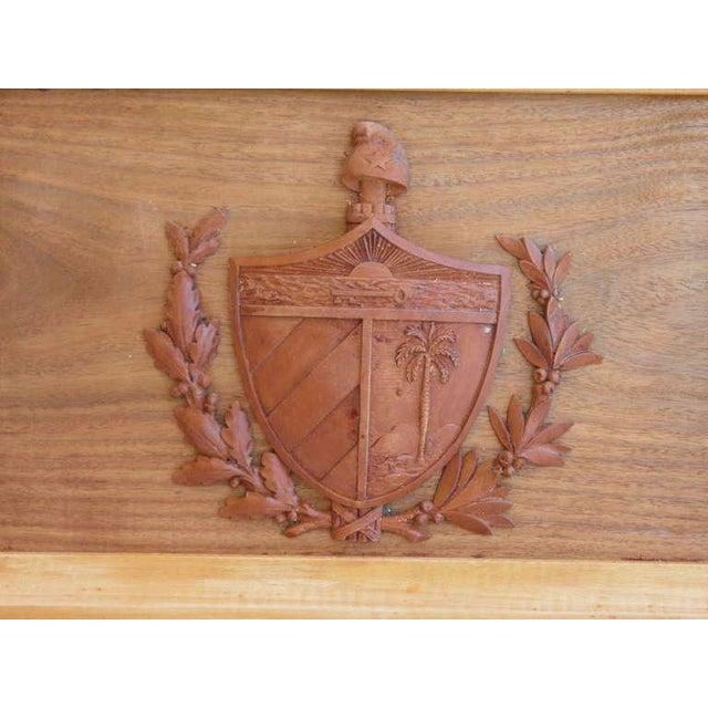 Hollywood Regency Treasure--Cuban Wood Cigar Humidor Cuba's Coat of Arms- circa 1940---Provenance For Sale - Image 3 of 9
