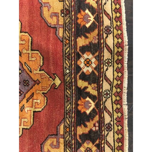 "Bellwether Rugs Vintage Turkish Oushak Runner - 5'8""x9'1"" - Image 9 of 10"