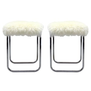 Pair of Bauhaus Stools For Sale