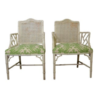 Pair of Chippindale Armchairs For Sale