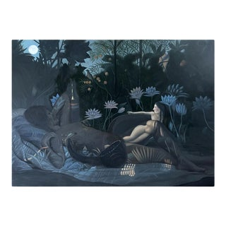 Oil Painting on Canvas by Yang Qian For Sale
