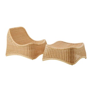 Chill Lounge Chair and Stool by Nanna Ditzel - 2 Pieces For Sale