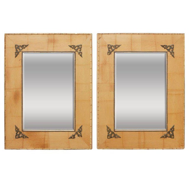 Pair of Bamboo Mirrors With Book Motif For Sale - Image 12 of 12