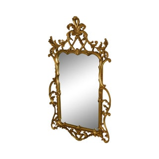 Carvers' Guild Louis XV Style Carved Giltwood Wall Mirror For Sale