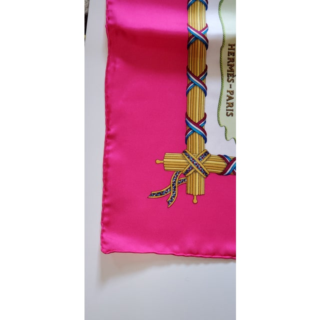 1990 Hermes Scarf With Box, Bag, Receipt, Care Card For Sale In Baltimore - Image 6 of 10