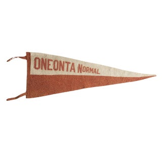 Antique Oneonta Normal Felt Flag Pennant