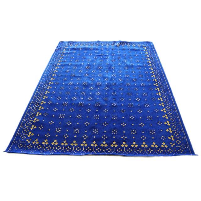 Custom Blue & Gold Stark Area Rug- 8′ × 10′ For Sale - Image 4 of 13
