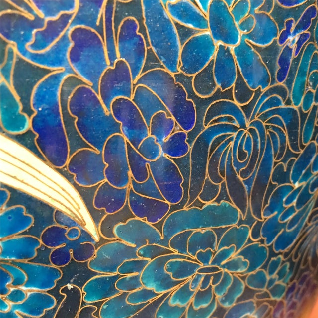 Chinese Cloisonne Style Vases - A Pair - Image 9 of 11