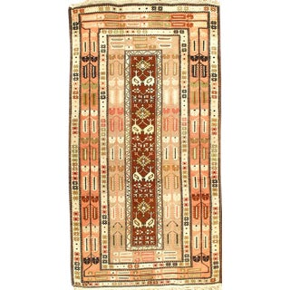 """Pasargad Hand-Knotted Kazak Area Rug - 4'5"""" X 8'1"""" For Sale"""