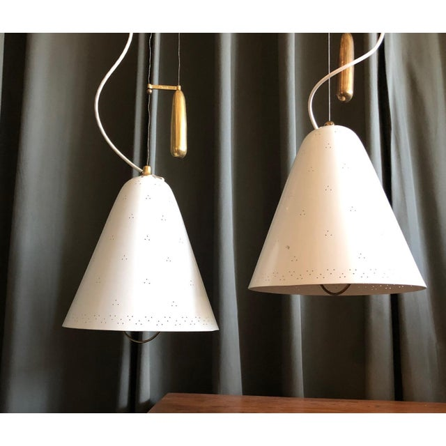 Pair of Pendants by Paavo Tynell For Sale In New York - Image 6 of 10