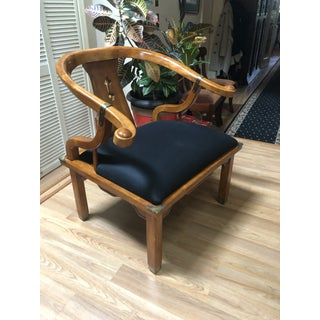 Vintage Ming Style Century Chin Hua Horseshoe Lounge Chair Preview