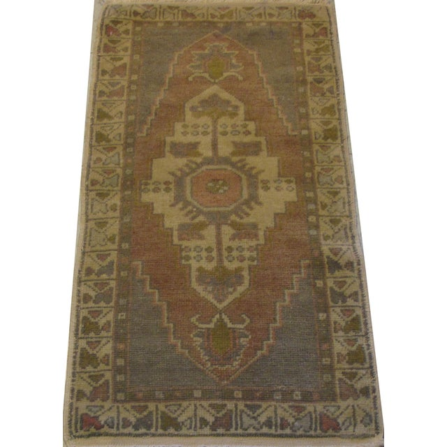 "Vintage Turkish Oushak Rug - 1'7"" X 3'3"" - Image 2 of 5"