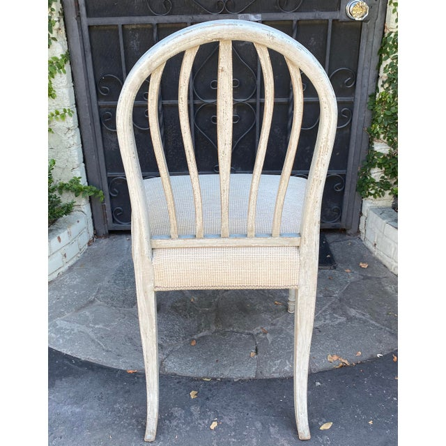 Gustavian (Swedish) Gustavian Style Swedish Paint Decorated Side Chair For Sale - Image 3 of 5