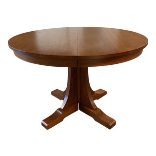 Stickley Mission Collection Pedestal Extension Table For Sale