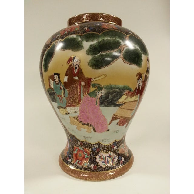 Chinese Famille Rose Vintage Style Temple Jar/Pair - Image 3 of 8