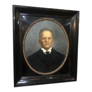 Early 1900s Portrait of a Man Painting, Framed For Sale