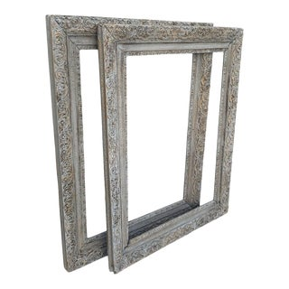 Antique French Wood Gesso Frames - a Pair For Sale