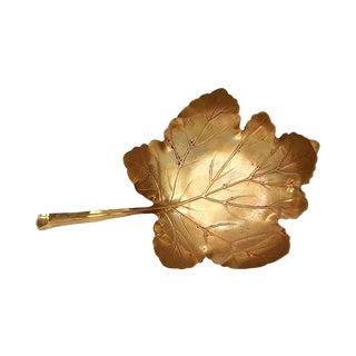 Vintage Brass Leaf Dish - Apollo Studios New York - Vintage Brass Decor For Sale